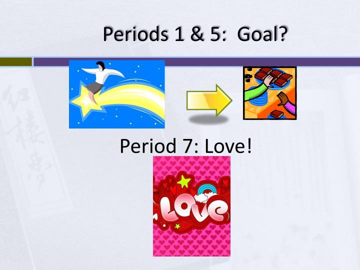 Periods 1 & 5:  Goal?