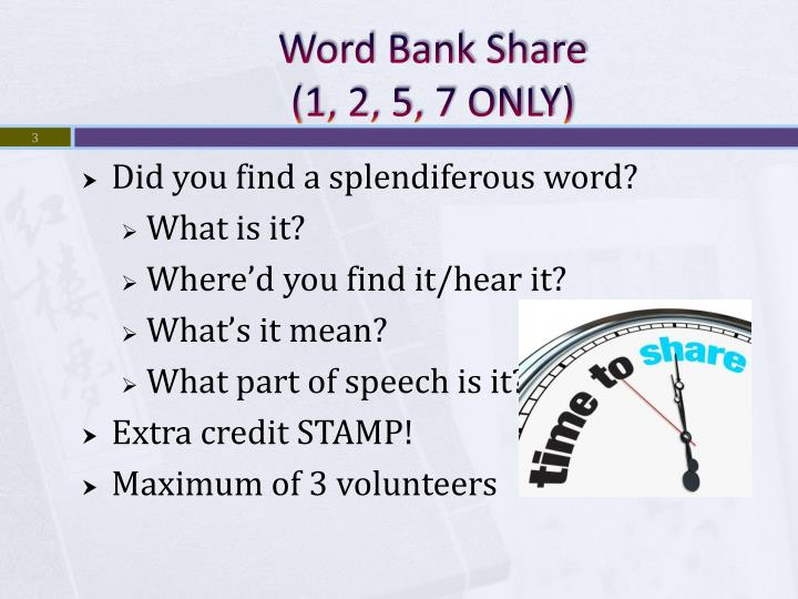 Word Bank Share
