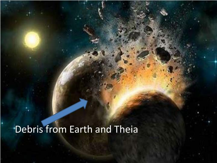 Debris from Earth and