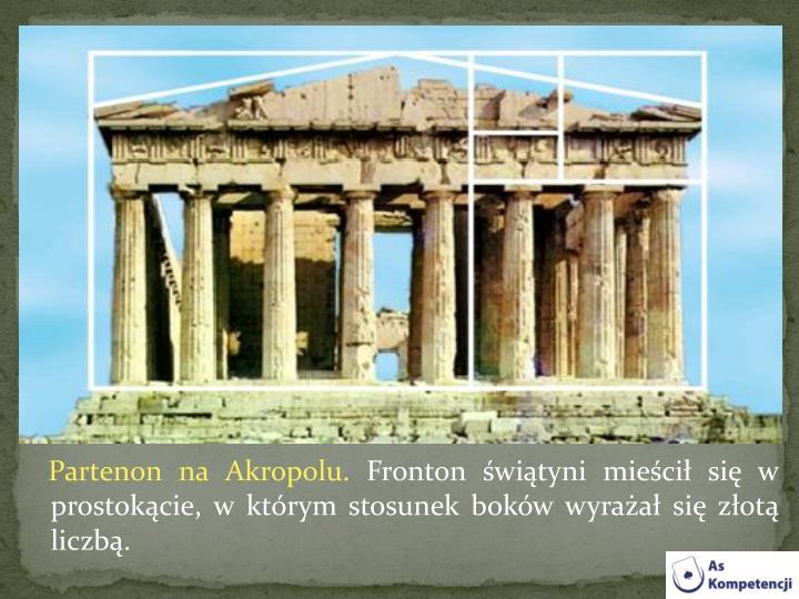 Partenon na Akropolu.