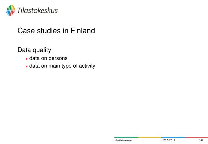 Case studies in Finland