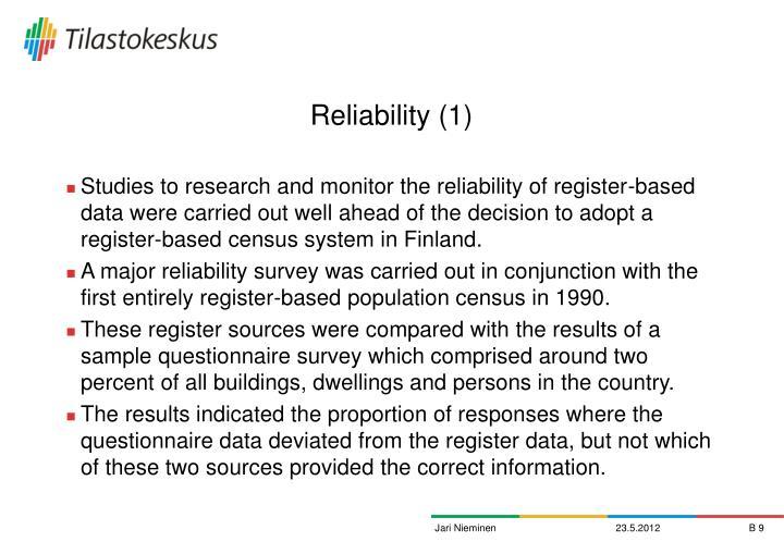 Reliability (1)