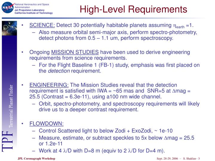High-Level Requirements