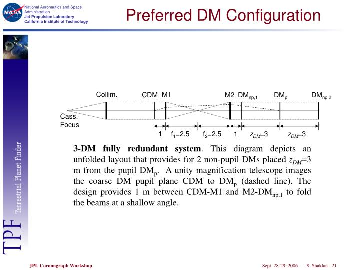 Preferred DM Configuration