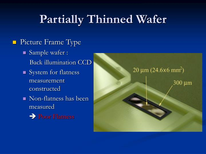Partially Thinned Wafer