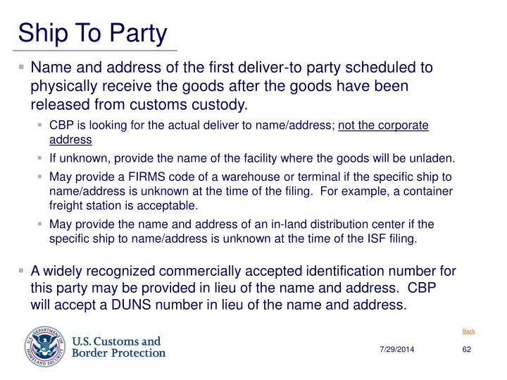 Ship To Party