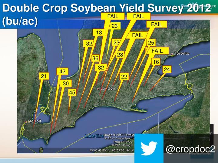 Double Crop Soybean Yield Survey 2012