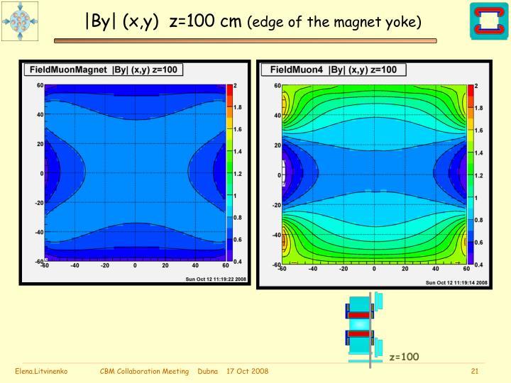  By  (x,y)  z=100 cm