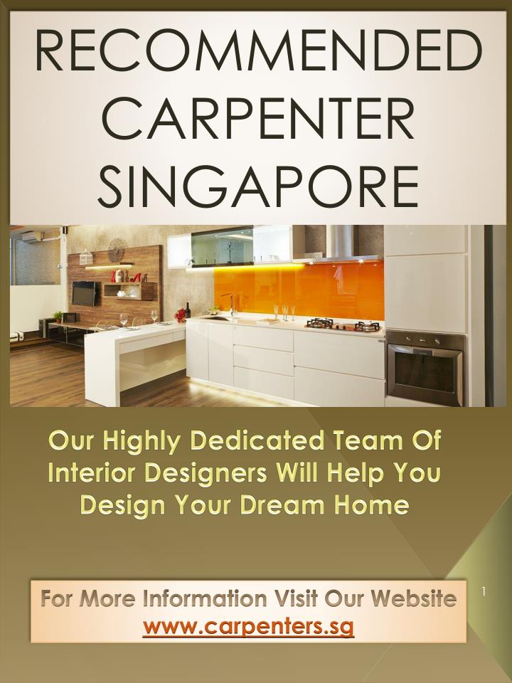 RECOMMENDED CARPENTER SINGAPORE