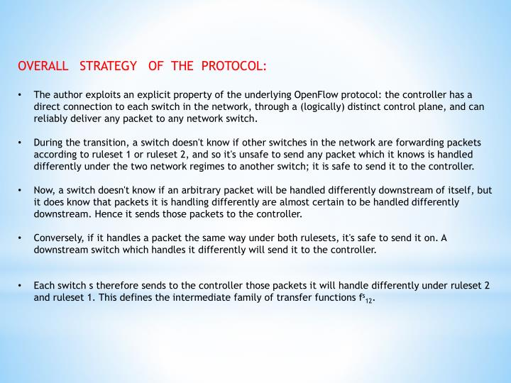 OVERALL   STRATEGY   OF  THE  PROTOCOL: