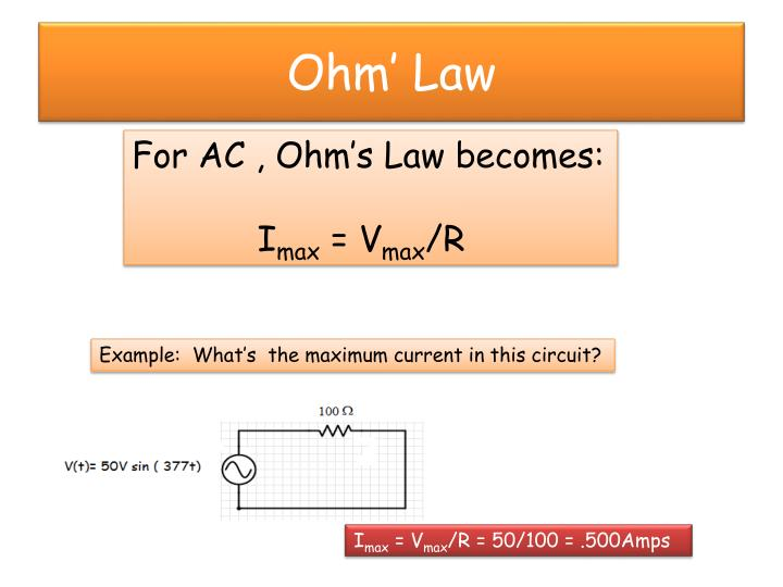 Ohm' Law