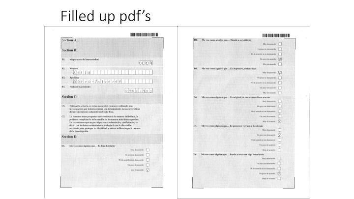 Filled up pdf's