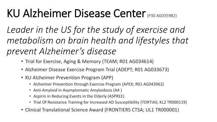 KU Alzheimer Disease Center