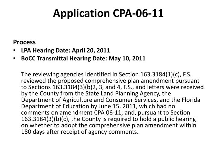 Application cpa 06 11