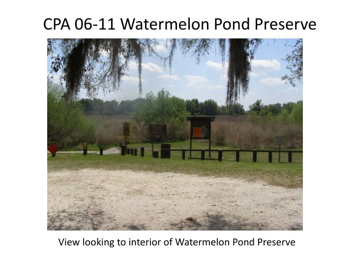 CPA 06-11 Watermelon Pond Preserve