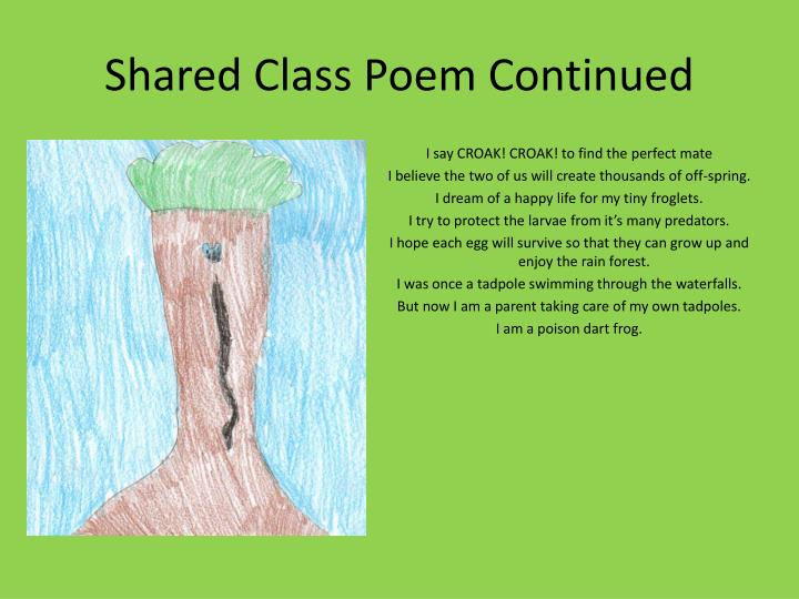 Shared class poem continued
