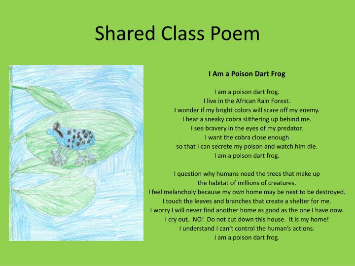 Shared class poem
