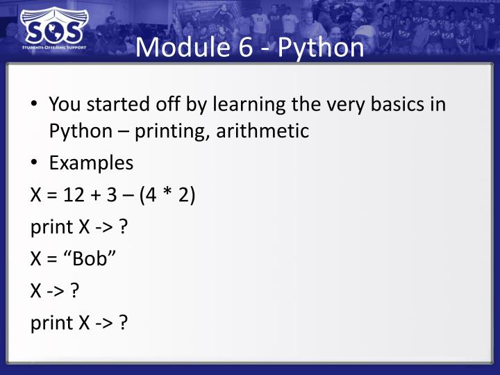 Module 6 - Python
