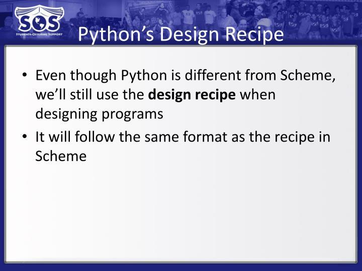 Python's Design Recipe