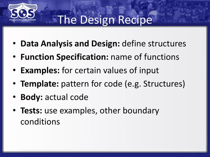 The Design Recipe