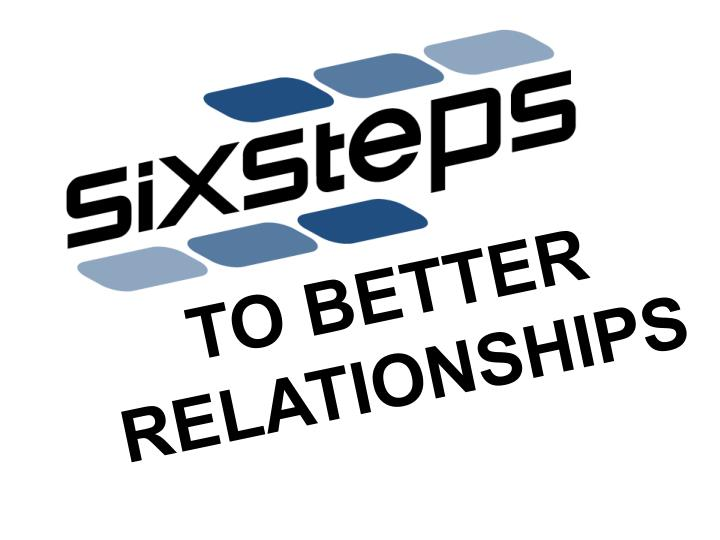 To better relationships