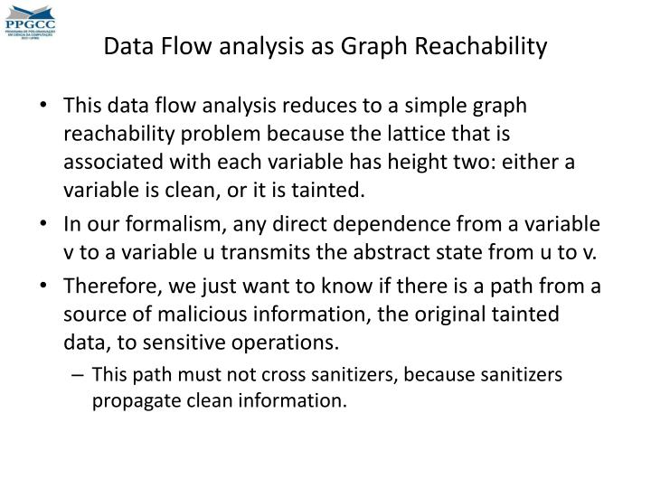 Data Flow analysis as Graph Reachability