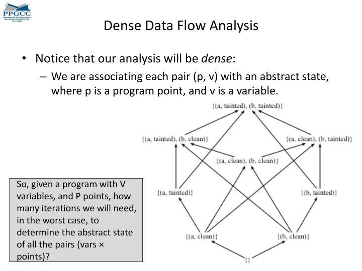 Dense Data Flow Analysis