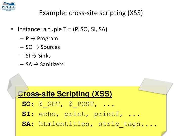 Example: cross-site scripting (XSS)