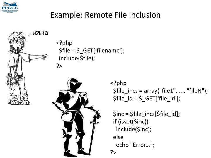 Example: Remote File Inclusion