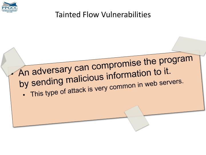 Tainted Flow Vulnerabilities