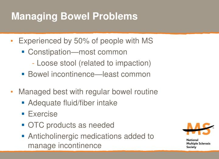 Managing Bowel Problems