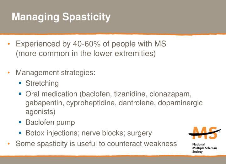 Managing Spasticity