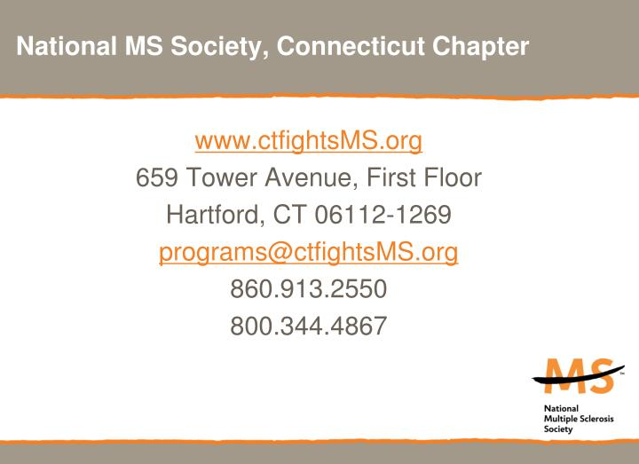 National MS Society, Connecticut Chapter