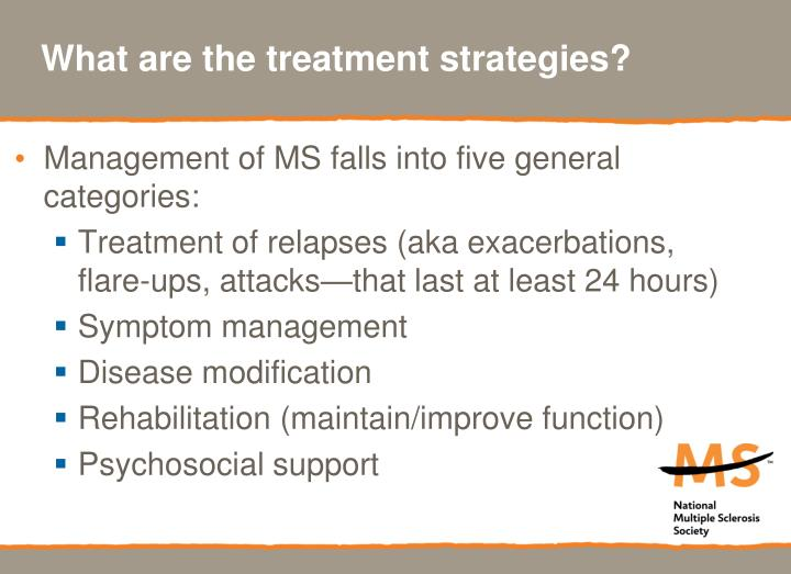 What are the treatment strategies?