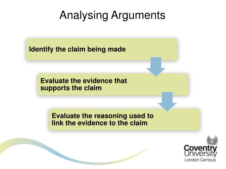 Analysing Arguments