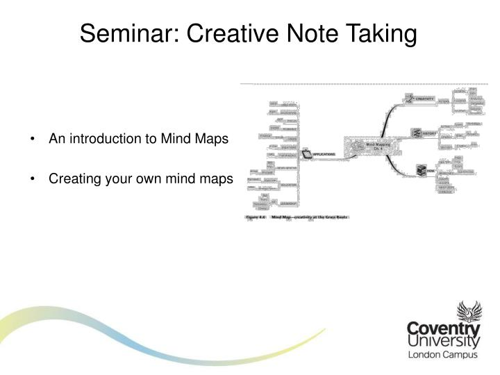 Seminar: Creative Note Taking
