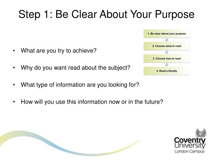 Step 1: Be Clear About Your Purpose