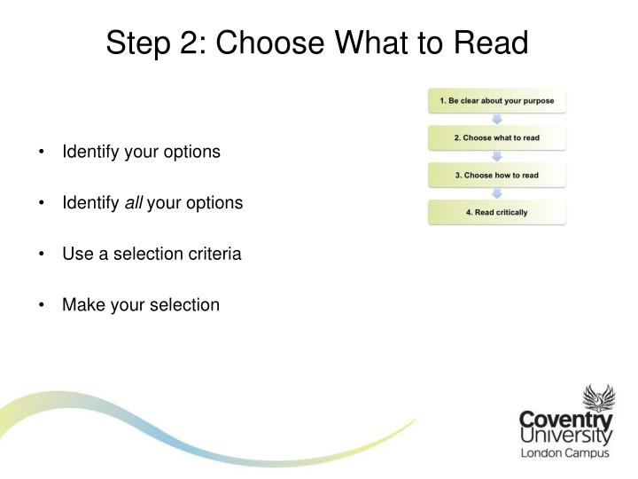 Step 2: Choose What to Read