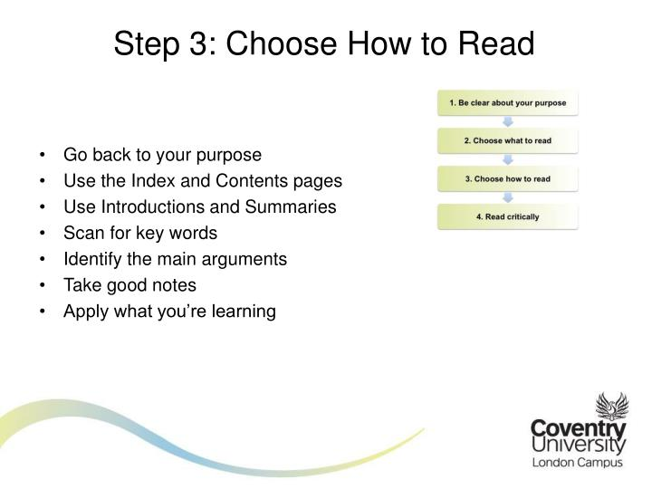 Step 3: Choose How to Read