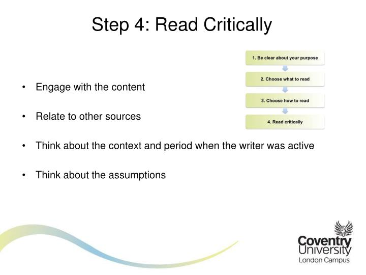 Step 4: Read Critically