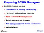 preparing sowo managers1