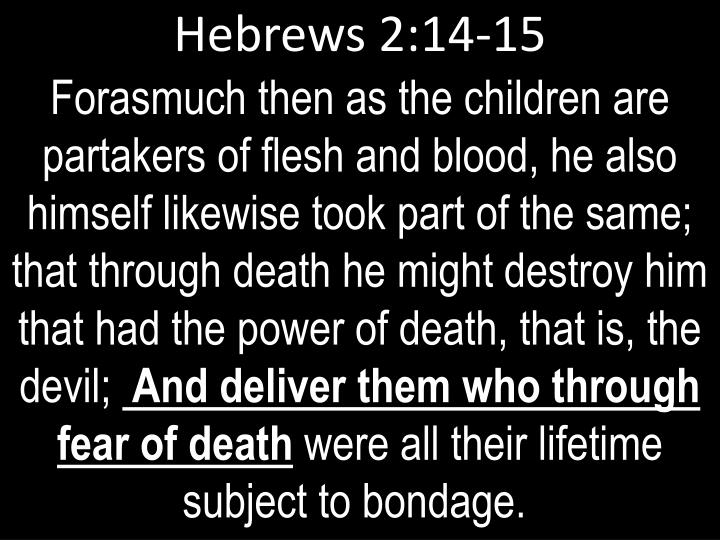 Hebrews 2:14-15