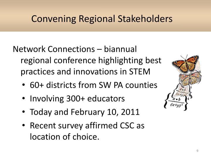 Convening Regional Stakeholders