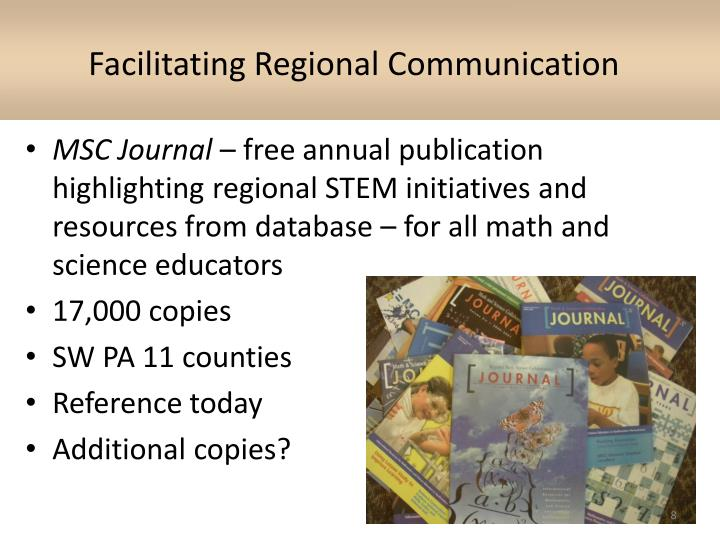 Facilitating Regional Communication