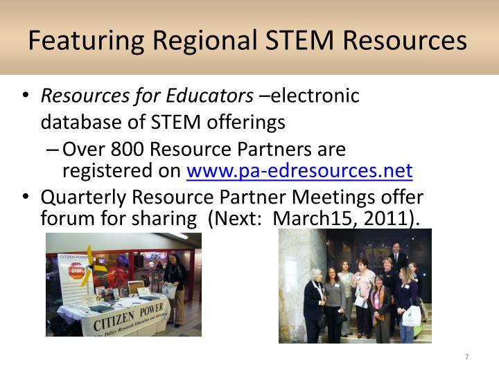 Featuring Regional STEM Resources