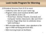 look inside program for morning