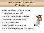 math science collaborative 15 th anniversary