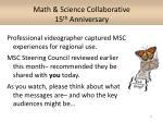 math science collaborative 15 th anniversary1
