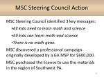 msc steering council action