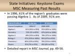 state initiatives keystone exams msc measuring past results